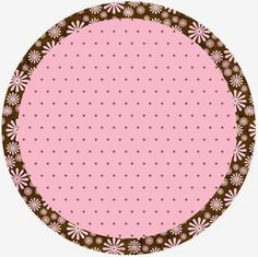 Brown and Pink Polka Dots Free Printable Candy Bar Labels.