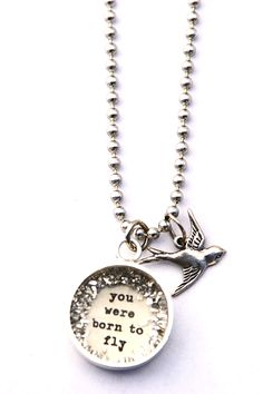 you were born to fly [LS30] - $25.00 : Beth Quinn Designs , Romantic Inspirational Jewelry