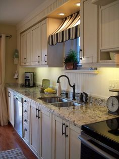 Love The Thought Of A Beadboard Back Splash,though Wonder About Keeping It  Clean Compared