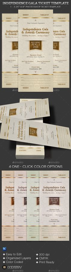 Independence Gala Ticket Template PSD. Download here: https://graphicriver.net/item/independence-gala-ticket-template/11834203?ref=ksioks