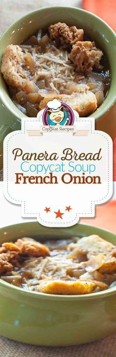 Make the Panera Bread Bistro French Onion Soup at home with this easy copycat recipe.
