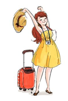 Traveling world. traveling world travel illustration, woman illustration Travel Illustration, Woman Illustration, Watercolor Illustration, Buch Design, Travel Drawing, Travel Clothes Women, Illustrations, Travel Scrapbook, Travel Style