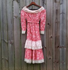 XS S Extra Small Vintage 70s Peaches N' by PinkCheetahVintage