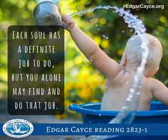 Each soul has a definite job to do, but you alone may find and do that job.