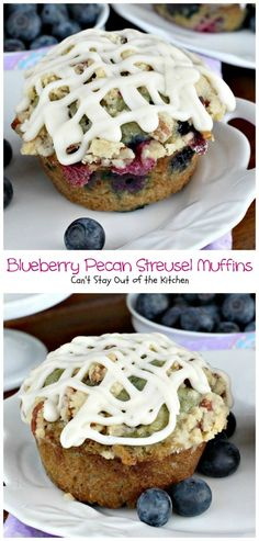 Blueberry Pecan Streusel Muffins | Can't Stay Out of the Kitchen | most scrumptious, delectable #blueberry #muffins ever! #breakfast