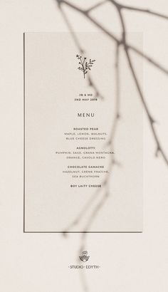 Wedding Menu - Elegant botanical illustration wedding clipart download minimal monochrome greenery wedding stationery printable #wedding #botanical #stationery #branding #illustration #clipart #design #graphics #download #creativemarket #illustrator #weddingtrends2019 #diywedding #2019 #2020 #logo #floral #frame #border #plants #leaf #leaves