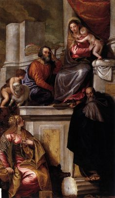 Holy Family with Sts Anthony Abbot, Catherine and the Infant John the Baptist 1551 Oil on canvas, 313 x 190 cm San Francesco della Vigna, Venice