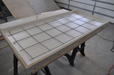 How to make a concrete table, stain and seal.