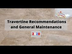 Travertine Tile and Grout Recommendations and General Maintenance - YouTube