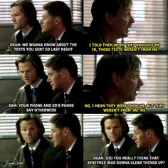 8x11 LARP And The Real Girl - Supernatural - Did you really think that sentence was gonna clear things up?