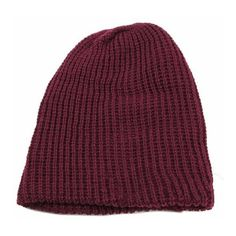 Unisex Warm Winter Knit Ski Cap Beanie Slouchy Oversize Hat ($6.37) ❤ liked on Polyvore featuring accessories, hats, newchic, beanie hat, ski hat, oversized beanie hats, beanie caps and oversized beanie