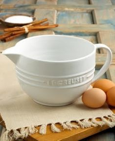 Le Creuset Batter Bowl - This is a BEAUT!! just hope it isn't heavy like the rest of Le Creuset line