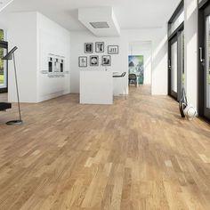 3-stav Eik Classic mattlakket er et parkettgulv med naturlig fargespill og lite kvist. Parketten har en tidløs mellombrun farge, som gir en fin lunhet til rommet Hardwood Floors, Flooring, Classic, Wood Floor Tiles, Wood Flooring, Classical Music, Floor, Floors