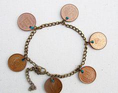 Boho hippie pulsera pulsera de cadena multi por BeadStonenSkin