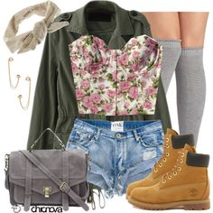 """Whatcha Think?"" by annellie on Polyvore Jacket: http://www.chicnova.com/military-jacket-with-zip-detail-and-drawstring-waist.html Bag: http://www.chicnova.com/pure-color-nubuck-leather-tote.html Ring: http://www.chicnova.com/geometric-open-design-alloy-ring.html"
