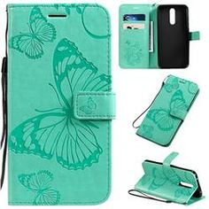 Embossing Butterfly Leather Wallet Case for Samsung Galaxy Note inch) / Plus - Green - Galaxy Note 10 Pro / Cases - Guuds Green Galaxy, Power Colors, P8 Lite, Butterfly Pattern, Galaxy Note 3, A30, Note 9, Ipad Mini, Leather Wallet