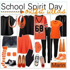 what+to+wear+to+football+game | School Spirit Day outfit ideas | So I've been trawling Polyvore ...