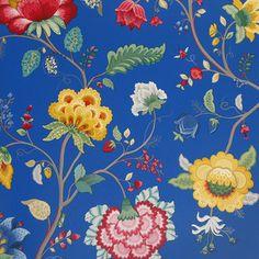 Pip Studio Floral Fantasy Wallpaper - 341034 Dark Blue