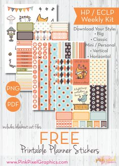 Falling For You Free Planner Stickers - Print and Cut | Pink Pixel Graphics {subscription required}
