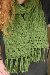 Free Pattern: County Fair Scarf by Emily Barth