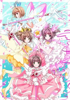 Card captor sakura clow card and clear card Anime Sakura, Manga Anime, Sakura Kinomoto, Syaoran, Anime Art, Sakura Card Captors, Clear Card, Anime Angel, Animes Wallpapers