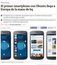 El primer smartphone con Ubuntu llega a Europa de la mano de bq / @diarioturing | #sci #tech #inn