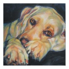 Labrador Retriever Gifts presents Yellow Lab Art: art prints, posters, original paintings, canvas art an wall decals. Customized art of your own Labrador dog, too! Over 150 Yellow Labs artworks on this page. Labrador Retrievers, L'art Du Portrait, Dog Portraits, Animal Paintings, Dog Art, Canvas Art Prints, Copyright Text, Labradors, Dog Photos