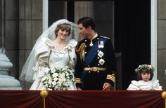 On 29 July 1981, the marriage of Prince Charles, Prince of Wales & Lady Diana Spencer was viewed all across the world as a modern day fairytale wedding (global TV audience of 750 million). Meanwhile, over 3,500 people congregated at St. Paul's Cathedral. Diana's wedding dress (valued at 9000 pounds) was made of silk taffeta, decoraed with lace, hand embroidery, sequins & 10,000 pearls. It was designed by Elizabeth & David Emanuel.