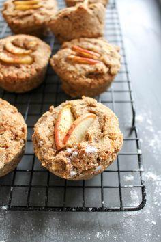 Healthy Apple-Cinnamon Muffins (with Avocado!) - plant based, vegan, vegetarian, refined sugar free, gluten free - heavenlynnhealthy.com