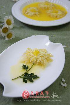 橙汁菊花豆腐