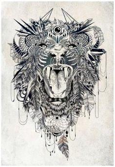 Sick lion tattoo design. #tattoo #tattoos #ink by Jillianne Athena