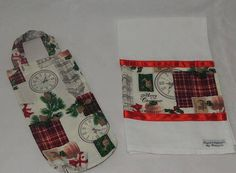 xmas gift set  Wine carrier and Tea Towel