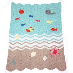 Beach Blanket Crochet Pattern