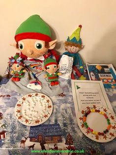 The elves wore my daughter's rainbow uniform and set up the famous skittle rainbow experiment for the kids to try out. The Elf, Elf On The Shelf, Rainbows Uniform, Woodland Elf, Christmas Stockings, Christmas Ornaments, Father Christmas, Magical Creatures, Family Traditions