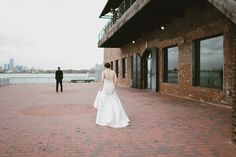 Modern Yellow Warehouse Wedding on the Brooklyn Waterfront   Images by With Love and Embers   Via Modernly Wed   27