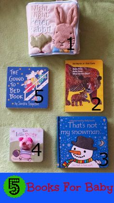 Five fabulous types of books for baby!