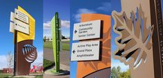 Check out the beautiful wayfinding system, and park features Trademark Sign Company did for the beautiful Julius Kleiner Memorial Park. Pylon Signage, Wayfinding Signs, Environmental Graphic Design, Environmental Graphics, School Signage, Signage Board, Monument Signs, Sign Board Design, Outdoor Signage