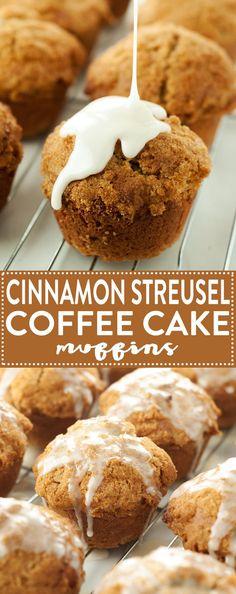Cinnamon Streusel Coffee Cake Muffins   asimplepantry.com