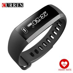 CURREN Smart Wristband Bracelet Casual Sport Heart rate Monitor Alarm Clock Bluetooth 4.0 Fitness Activity Watch For iOS Android - Watchesfixx