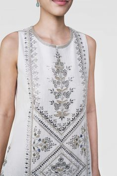 Designer Suits - Buy Ginevra Suit for Women Online - - Anita Dongre Kurti Embroidery Design, Hand Embroidery Designs, Embroidery Patterns, Indian Wedding Outfits, Indian Outfits, Indian Clothes, Indian Dresses, Pakistani Fashion Casual, Muslim Fashion