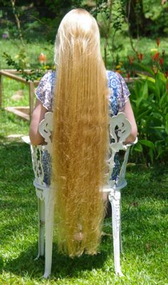Braids & Hairstyles for Super Long Hair: Blonde Knee-Length Pictures - June 2014