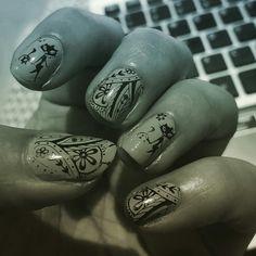 Meow Nail art