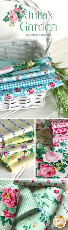 Julia's Garden by Deborah Edwards for Northcott Fabrics is a beautiful floral fabric collection available at Shabby Fabrics!