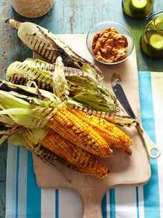 A twist on the classic, this grilled corn with BBQ butter will make your mouth water.