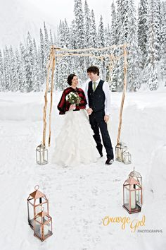 I'm dreaming of a winter wedding.