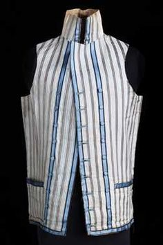 Centraal Museum, Utrecht   Man's vest (1775 - 1799 – end of the 18th century)    Bruikleen onbekend +.   Inventory # 5415    LOVE the stripes!