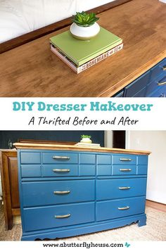 This in-depth furniture flip turns a thrifted dresser into a practical pull-out hamper. Includes detailed photo and video tutorials! #furnitureflip #furnituremakeover Diy Furniture Flip, Thrift Store Furniture, Dream Furniture, Furniture Projects, Diy Dresser Makeover, Furniture Makeover, House Projects, Garden Projects, Butterfly House