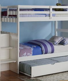Love this White Twin Trundle Bed on #zulily! #zulilyfinds