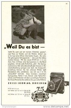 Original-Werbung/Inserat/ Anzeige 1937 - 1/1-SEITE - ZEISS-IKON - ca. 220 X 145 mm