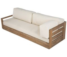 Sofá de madera de teca CORNER BAHIA